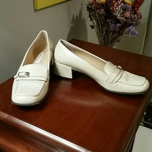 Cream Ann Taylor Loafers